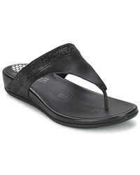 Fitflop Ff2tm Bandatm Toe Post Women's Flip Flops / Sandals (shoes) In Black