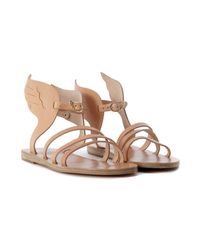 Ancient Greek Sandals Natural Ikaria Leather Sandal Women's Sandals In Beige