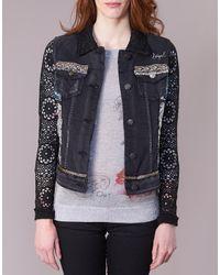 Desigual Black Pardo Denim Jacket