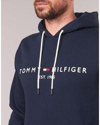 Tommy Hilfiger Sweater Tommy Logo Hoody in het Blue voor heren