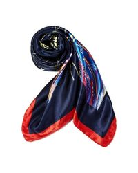 Echarpe FEATHER Versace en coloris Blue