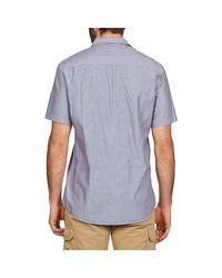 Quiksilver Everyday Stripe Ss Men's Short Sleeved Shirt In Blue for men