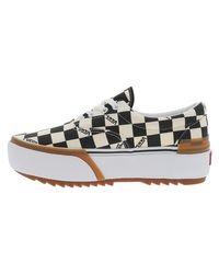 Baskets basses CHECKERBOARD ERA STACKED Chaussures Vans en coloris White