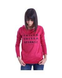 Liu Jo | T66075j5234 T-shirt Women Fuchsia Women's Sweater In Pink | Lyst
