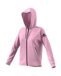 W ID STADIUM GIACCHETTO CAPPUCCIO di Adidas in Pink