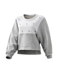 Adidas Gray Es Stud Sweater Sweatshirt