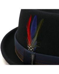 Chapeau porkpie feutre imperméable Farladey Chapeau Stetson pour homme en coloris Black