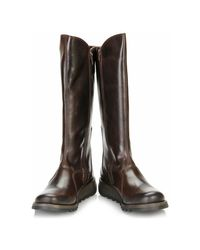 Fly London - Womens Dark Brown Mol 2 Leather Boots Women's High Boots In Multicolour - Lyst