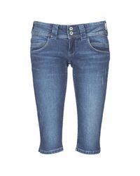Pepe Jeans Blue 7/8 & 3⁄4 Hosen VENUS CROP