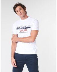 Napapijri T-shirt Korte Mouw Soves in het White voor heren