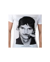 ELEVEN PARIS T-shirt Kuty M Ashton Kutcher White Men's T Shirt In White for men