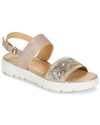 Geox - Natural Amalitha G Women's Sandals In Beige - Lyst