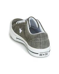 Converse Lage Sneakers One Star Vintage Suede Ox in het Gray