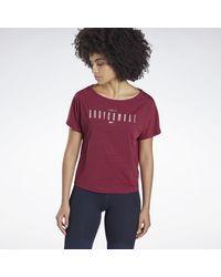 Camiseta LES MILLS® BODYCOMBAT® ACTIVCHILL Reebok de color Purple