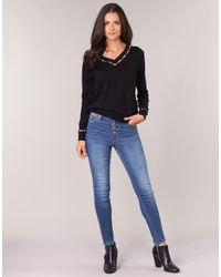 Guess Skinny Jeans 1981 Exposed Button in het Blue