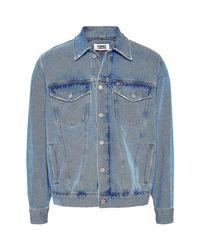 Tommy Hilfiger Dm0dm08057 Jacket Man Blue Tracksuit Jacket for men