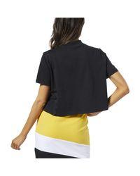 Reebok Black T-Shirt Classics Vector Crop Top