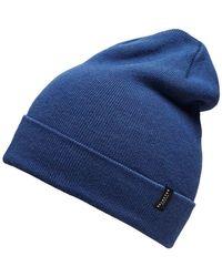 16052444 LETH BEANIE hommes Bonnet en bleu SELECTED pour homme en coloris Blue