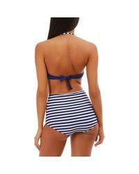 Ensemble de bikini bleu marine avec imprimé marinière Maillots de bain La Modeuse en coloris Blue
