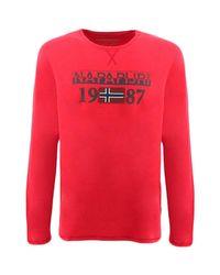 Napapijri Langarmshirt SOLIN in Red für Herren