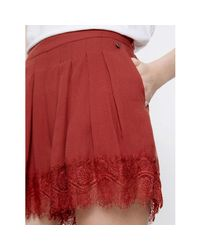 Pepe Jeans - Pl800674 Shorts Women Red Women's Shorts In Red - Lyst