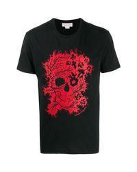 T-SHIRT HOMME T-shirt Alexander McQueen pour homme en coloris Black