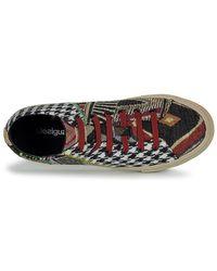 Desigual Hoge Sneakers Vulcano Patch in het Black