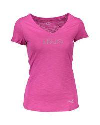 Liu Jo Red T-Shirt WXX019 JB698