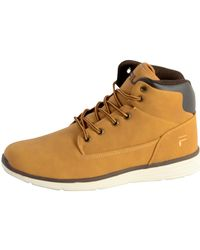 Fila Shoes Spear Mid Chipmunk Women's Shoes (high-top Trainers) In Brown