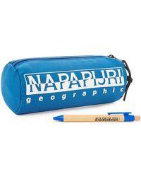 HAPPY PENCIL CASE 1 hommes Trousse en bleu Napapijri pour homme en coloris Blue