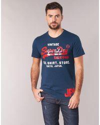 SHIRT SHOP DUO TEE T-shirt Superdry pour homme en coloris Blue