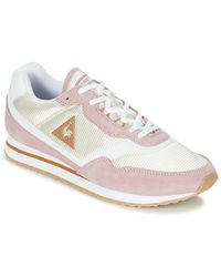 Le Coq Sportif Louiset Suede/nylon Women's Shoes (trainers) In Pink