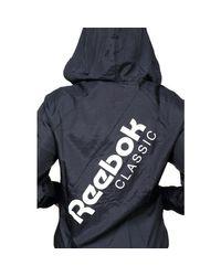 Reebok - Black Gilet femme mi-saison femmes Coupes vent en Noir - Lyst