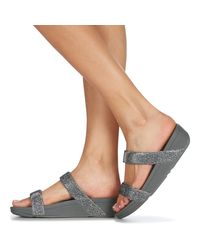 Fitflop Slippers Lottie Glitzy Slide in het Metallic