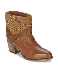 Vic Matié Agave Women's Low Ankle Boots In Brown