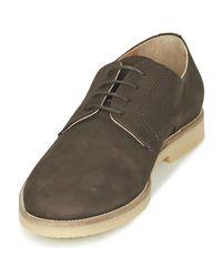 Hackett - Blucher Nubbuck Men's Casual Shoes In Brown for Men - Lyst