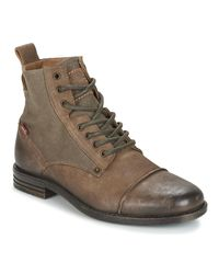 Levi's Gray Levis Emerson Men's Mid Boots In Grey for men