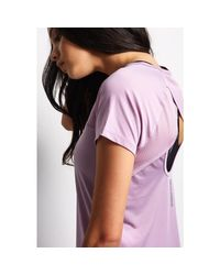 Under Armour Multicolor Fly-by Short Sleeve Tee - Fresh Orchid - Xs Multicolour Women's T Shirt In Multicolour