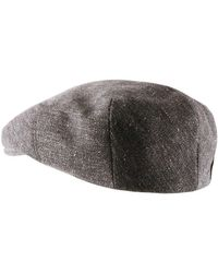Béret casquette Kendal Wool Linen Casquette Stetson pour homme en coloris Gray