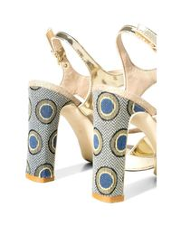 Desigual Metallic 72ssga9 High Heeled Sandals Women Gold Women's Sandals In Gold