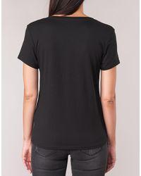 Guess T-shirt Korte Mouw Logo in het Black