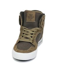 Supra Vaider Men's Shoes (high-top Trainers) In Green for men
