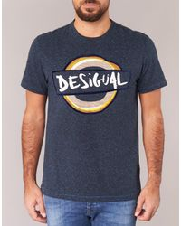 Desigual Blue T-shirt for men