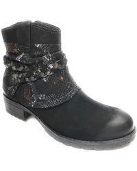 25382.29 Boots Tamaris en coloris Black