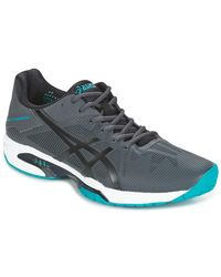 Asics Gray Solution Speed Men's Tennis Trainers (shoes) In Grey for men