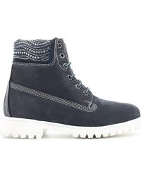 Keys | 8089 Ankle Boots Women Blue Women's Mid Boots In Blue | Lyst