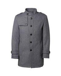Manteau en drap de laine H Gris hommes Manteau en Gris SELECTED pour homme en coloris Gray