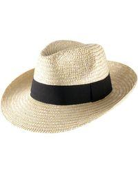 Chapeau large bord Classic Fedora Paille Large blanc Chapeau Classic Italy en coloris Natural