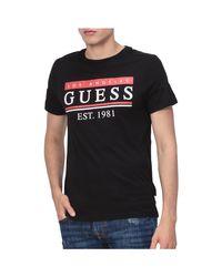 T-shirt Tee Shirt Logo M91i55 K8540 Guess pour homme en coloris Black