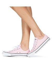 Converse Lage Sneakers Chuck Taylor All Star Seasonal Canvas Ox in het Pink